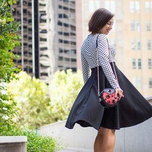 Dresses & Skirts - Long-sleeved polka dot dress